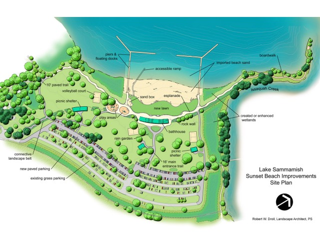 Docks & Sunset Beach Site Plan